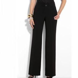 St. John Marocain Sequin Waist Trouser Pants